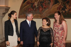 Miss Victoria de Silva, HRH Crown Prince Alexander, HRH Crown Princess Katherine and HRH Princess Katerina (daughter of Prince Tomislav)