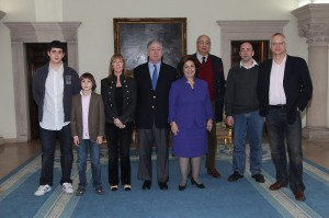 Mr Andrej Prichard-Levy, Mr Luca Prichard-Levy ,HRH Princess Lavinia (daughter of Prince Andrej) HRH Crown Prince Alexander, HRH Crown Princess Katherine Sir Desmond de Silva, HRH Prince Dimitri (son of Prince Andrej) and Mr Austin Prichard-Levy