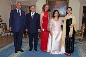 Sir Desmond de Silva, HRH Crown Prince Alexander, HRH Princess Katerina (daughter of Prince Tomislav), HRH Crown Princess Katherine and Miss Victoria de Silva