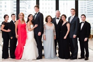 Mr Nicolas Garfinkel with his fiancée, Mrs Alison Andrews, Miss Stephanie Garfinkel, Mr Michael Knapp, HRH Crown Princess Katherine, HRH Crown Prince Alexander, Miss Amanda Garfinkel with her fiancée and Mr Michael Garfinkel