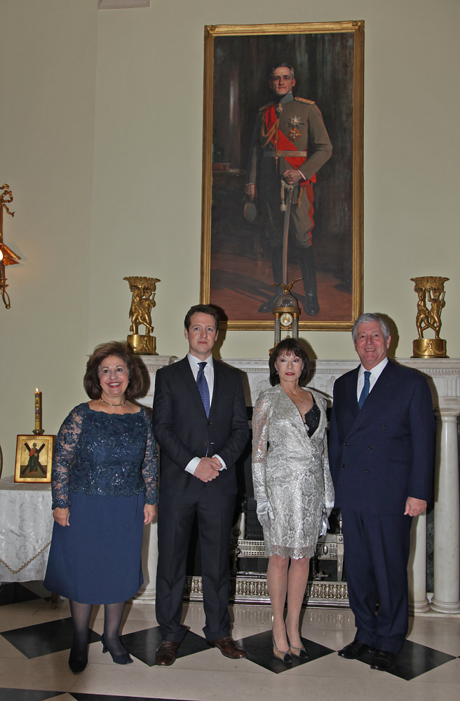 HRH Crown Princess Katherine, HRH Prince Philip, HRH Princess Elizabeth and HRH Crown Prince Alexander