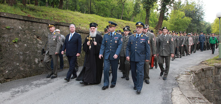 His Royal Highness Crown Prince Alexander II and His Holiness Patriarch Irinej of Serbia together with Military Generals led the procession
