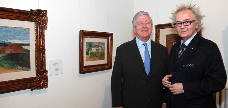 HRH Crown Prince Alexander II and HE Mr Ivan Tasovac, Minister of culture and information