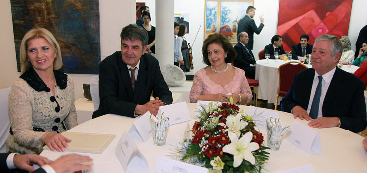 Mrs Dragica Nikolic, First Lady of Serbia, HRH Crown Princess Katherine and HRH Crown Prince Alexander II