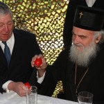 His Royal Highness Crown Prince Alexander II and His Holiness Patriarch Irinej of Serbia