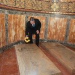 HRH Crown Prince Alexander II put flowers at tombs of members of Karadjordjevic family and the Crypt of St. George Church