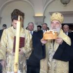 """Corte o bolo """"Slava"""" no Salão Azul do Palácio Real"""