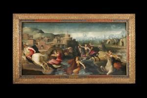 Cloella's Flight, Domenico di Pace Beccafumi, c.1520