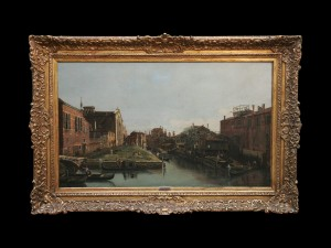 Canal in Venice, Giovanni Antonio Canaletto, 18ct