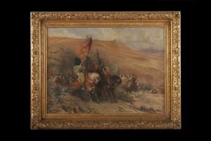 Arab Horsemen, Georges Jules Victor Clairin, 19 ct