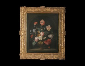 Vase with Flowers, Abraham Mignon, 17ct