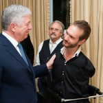Crown Prince Alexander talking to Nick Vujicic
