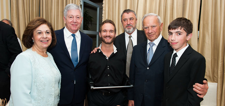 Crown Prince Alexander and Crown Princess Katherine with Mr Nik Vujicic and Mr Milan Panic