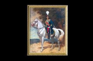 Portrait of HM King Alexander I Karadjordjevic on horseback, Georges Bertin Scott, 1924