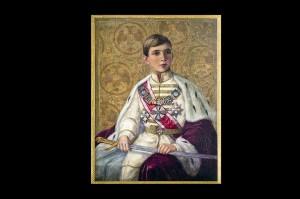 Портрет Њ.В. Краља Петра II Карађоревића, непознати аутор према нацрту Томислава Кризмана, око 1935.