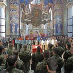 His Grace Bishop Arsenije of Toplica, Vicar Bishop of Serbian Patriarch Irinej, blessed  the Army of Serbia brigade flags in the Church of Saint George in Oplenac