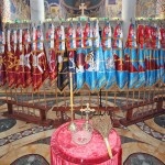 The Army of Serbia brigade flags in the Church of Saint George in Oplenac