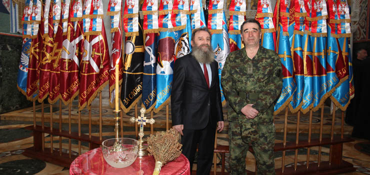 Mr. Predrag Markovic, a member of the Crown Council with Major General Vojin Jondic