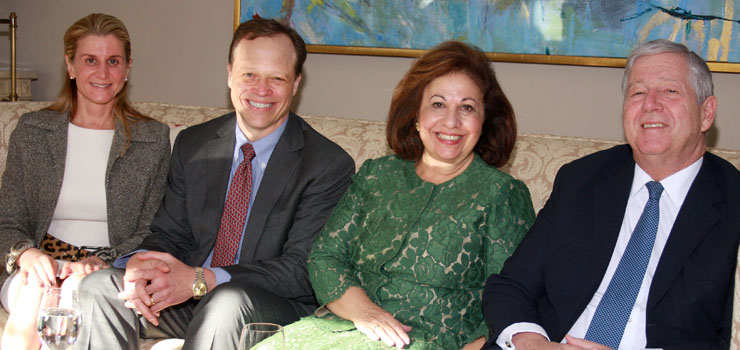 Dr Robert M. Friedlander, Chairman of the Department of Neurosurgery UPMC with his wife Eugenia and Their Royal Highnesses Crown Prince Alexander and Crown Princess Katherine