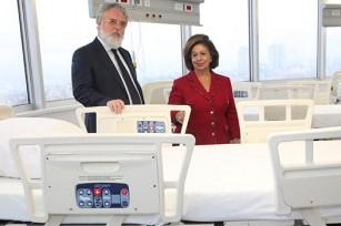 "Prof. Dr Radisav Scepanovic, director of Clinical center ""Dr Dragisa Misovic"" and HRH Crown Princess Katherine"