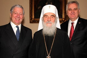HRH Crown Prince Alexander, His Holiness Patriarch Irinej of Serbia and HE Mr Tomislav Nikolic, President of the Republic of Serbia