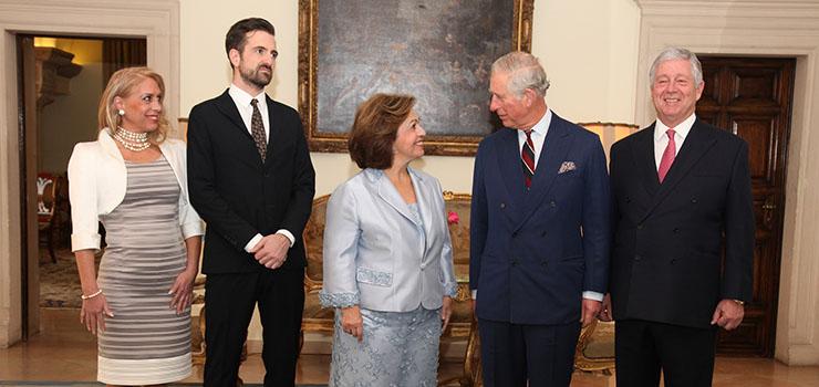 Mrs. Allison Andrews, HRH Hereditary Prince Peter, HRH Princess Katherine, HRH The Prince of Wales and HRH Crown Prince Aleksandar