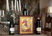The icon of St. George and the Royal Winery Oplenac wines, part of the gifts that Crown Prince Alexander gave to the Prince of Wales