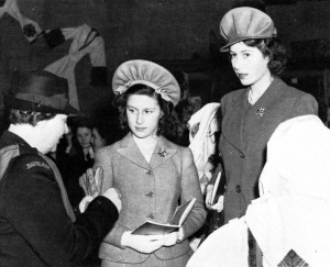 Queen Maria with Princess Elizabeth and Princess Margaret