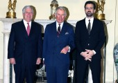 Crown Prince Alexander, the Prince of Wales and Hereditary Prince Peter at the White Palace