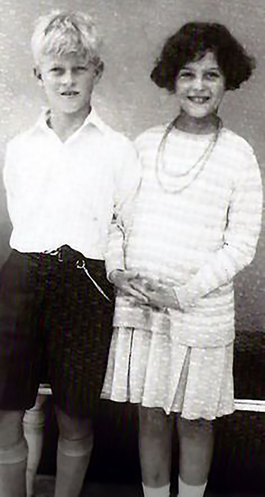 HRH Prince Philip of Greece and Denmark (later the Duke of Edinburgh) and HRH Princess Alexandra of Greece and Denmark (later the Queen of Yugoslavia)