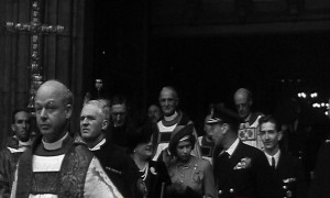 The baptism of HRH Crown Prince Alexander, Westminster Abbey, 21 October 1945