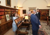 Crown Princess Katherine, the Prince of Wales, Crown Prince Alexander and Hereditary Prince Peter in the King's Office