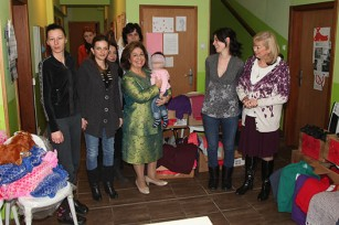 HRH Crown Princess Katherine and Mrs. Vesna Stanojevic during a tour of the Safe House