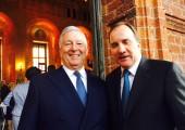 HRH Crown Prince Alexander and Mr. Kjell Stefan Löfven, Prime Minister of the Kingdom of Sweden