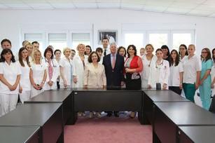 Royal Couple with staff at KBC Bezanijska kosa