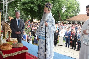 HRH Crown Prince Alexander and His Grace Bishop Teodosije of Ras and Prizren