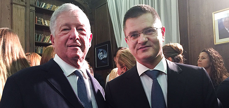 HRH Crown Prince Alexander and Vuk Jeremić, Serbian candidate for the UN Secretary General