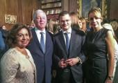 Their Royal Highnesses and Vuk Jeremić with his wife Nataša Jeremić