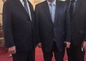 HRH Crown Prince Alexander, Ivica Dacic, First Deputy Prime Minister and Minister of Foreign Affairs of Serbia and H.E. Milan Milanović, Permanent Representative of the Republic of Serbia to the United Nations