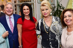 Dr. Karen Burke Goulandris, Richard Soloway, Donna Soloway, Ivana Trump, HRH Crown Princess Katherine of Serbia