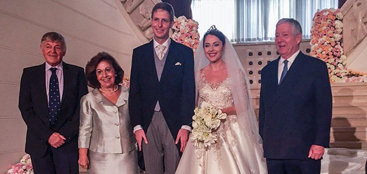 Royal couple at royal wedding in albania