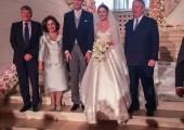 Their Royal Highnesses Crown Prince Alexander and Crown Princess Katherine with the Royal couple and is Royal Highness Prince Nikola II Petrović-Njegoš of Montenegro