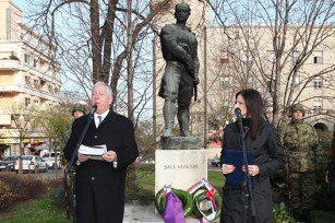 Speech by Crown Prince Alexander at the monument of Vasa Carapic