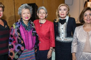Ms. Andri Anastasiadis, First Lady of Cyprus, Right Honorable Adrienne Clarkson, former Governor General of Canada, Ms Irina Bokova, UNESCO Director-General, Marianna V. Vardinoyannis, UNESCO Goodwill Ambassador, Crown Princess Katherine