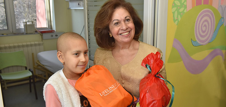 HRH Crown Princess Katherine in humanitarian mission to the children's hospitals
