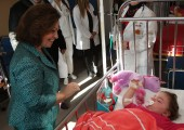 HRH Crown Princess Katherine in the visit to the Clinical Center Banja Luka