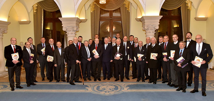 HRH Crown Prince Alexander with the members of the Crown Council