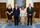 Mrs. Daniela Celikovic, TRH Crown Prince Alexander and Crown Princess Katherine and Mr. Jugoslav Celikovic