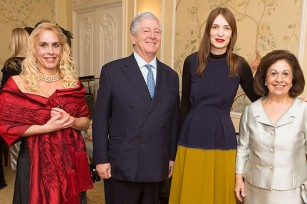 TRH Crown Prince Alexander and Crown Princess Katherine with TRH's daughter Alison and Roksanda Ilincic
