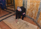 HRH Crown Prince Alexander at the tomb of King Peter II